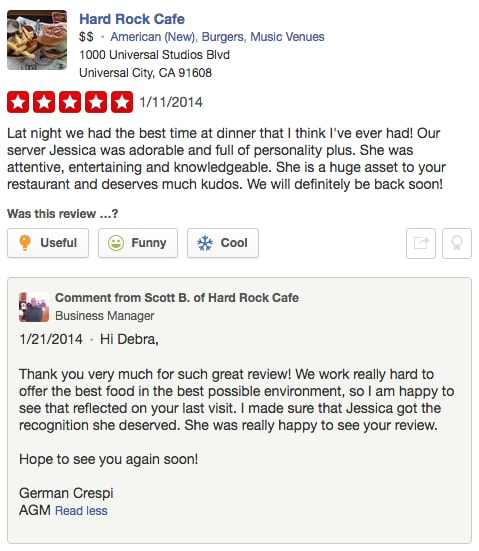 engaged yelp review